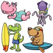 Cartoon Water sport