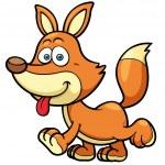 Vector illustration of Cartoon fox...