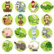 Vector illustration of Animals set Cartoon...