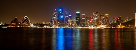 Photo for Panorama of Sydney Harbor including the iconic opera house, taken from North Sydney. - Royalty Free Image