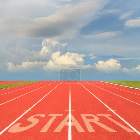 Photo for Start on running track - Royalty Free Image