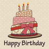 Birthday cake vintage styleHappy birthday card