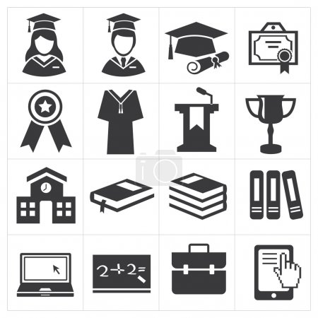 Illustration for Icon education set illustration - Royalty Free Image