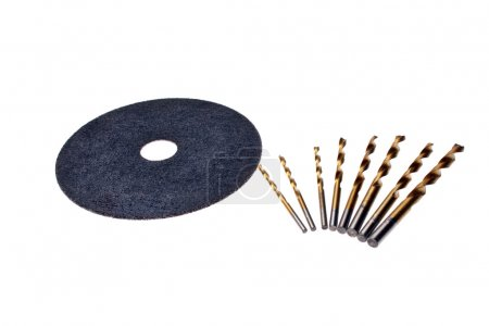 Abrasive disc and drill for metal