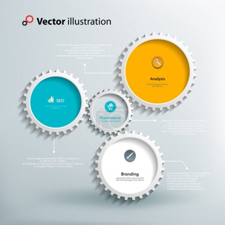 Icons and footnotes for information graphics. Colo...