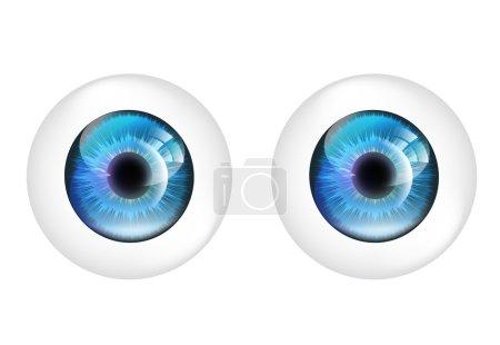 Illustration pour Boules d'oeil vectorielles isolées . - image libre de droit
