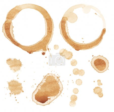 Illustration for Vector coffee stain on white background. - Royalty Free Image
