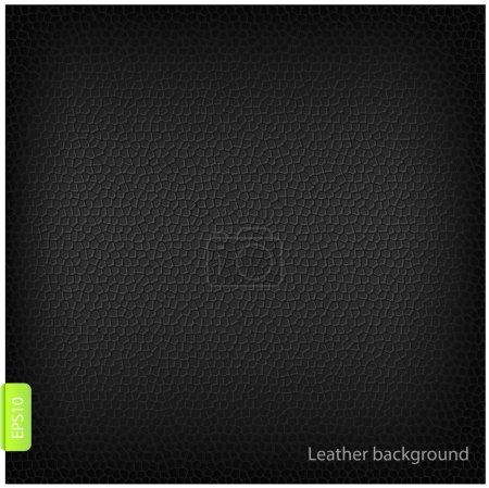 Illustration pour Vector abstrait fond cuir noir - image libre de droit