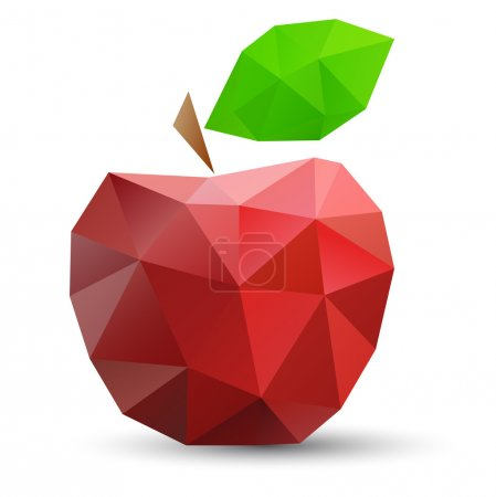 Abstract red apple.