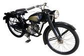 Staré černé mopedu