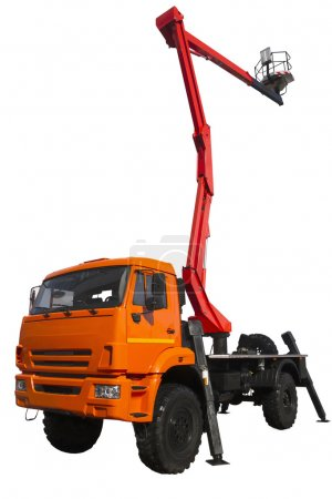 Modern truck with a lifting device