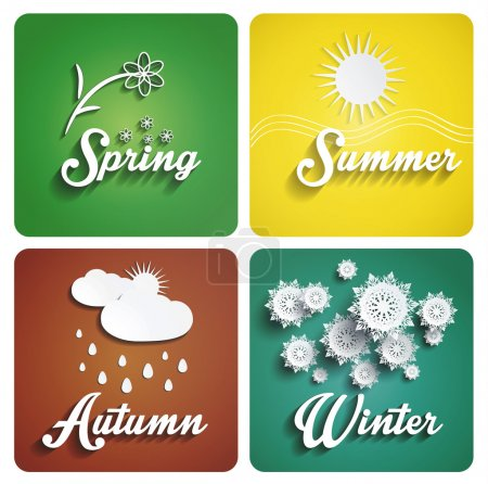 Seasons flat design