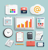 Workplace office and business work elements set