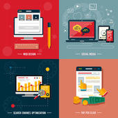 Icons for web design seo social media