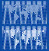 Coarse World Map Guilloche Designs