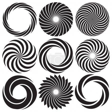 Illustration pour Spirales d'art optique et illusions optiques - image libre de droit