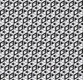 Vector Editable Seamless Geometric Cubes Optical Illusion Pattern Texture Wallpaper