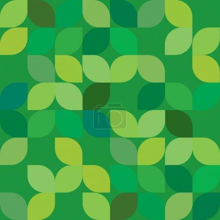 Illustration pour Vector éditable sans couture abstrait fond de feuille verte - image libre de droit