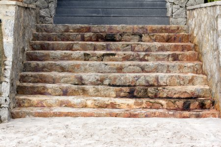 Stone Stairs down to the beach
