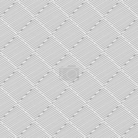 Illustration for Design seamless monochrome doodle pattern. Abstract diamond textured background. Vector art - Royalty Free Image