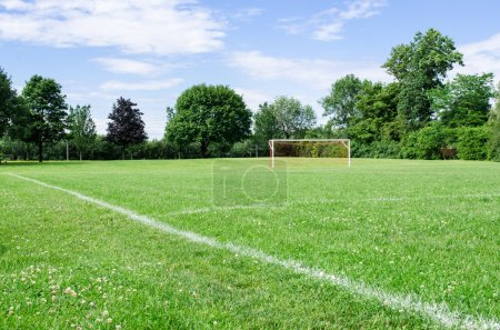 Photo for Image of a public soccer field - Royalty Free Image