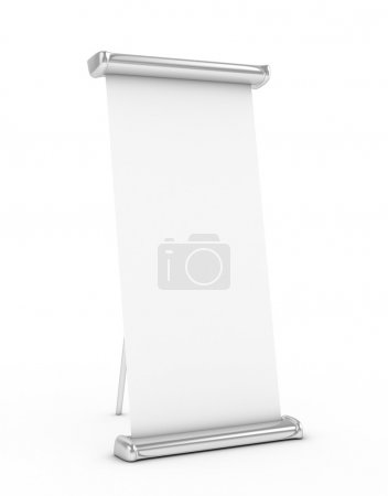 Roll Up stand 3d rendered isolated
