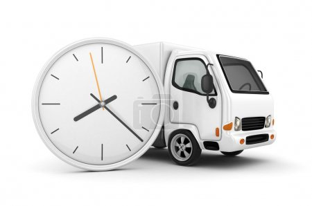 3D Clock and White Truck-Fast shipping