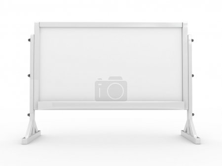 3d white board isolated