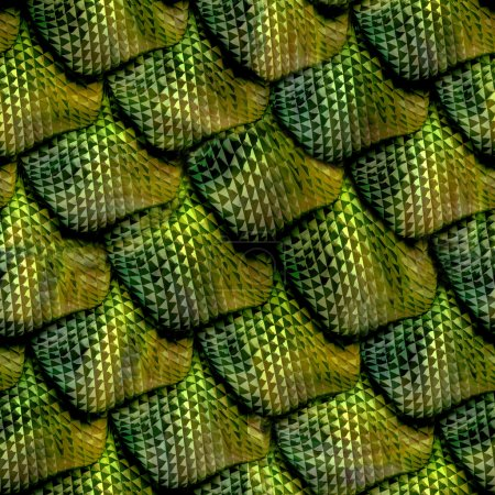 Photo for 3d abstract Seamless snake skin, reptile scale - Royalty Free Image