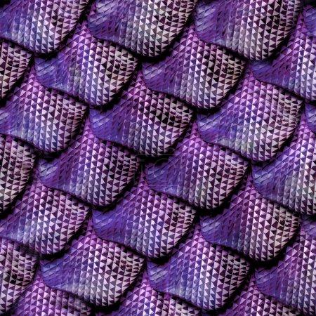 3D abstrakte nahtlose Schlangenhaut, Reptilienschuppen