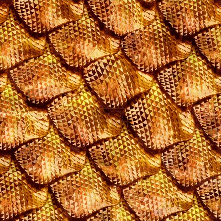 3d Seamless snake skin, abstract reptile scale