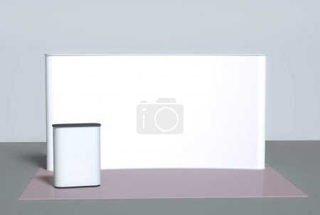Photo for 3d background, blank trade show booth for designers - Royalty Free Image