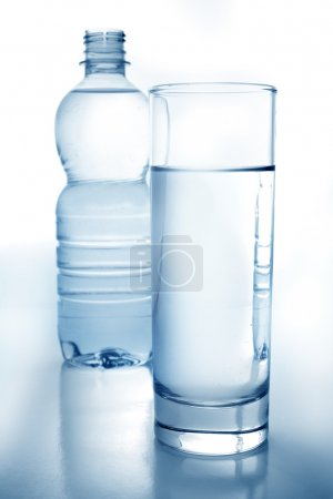 Photo for Bottle and glass of water - Royalty Free Image