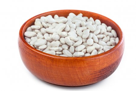 Photo for Healthily grown organic beans on a rustic table - Royalty Free Image