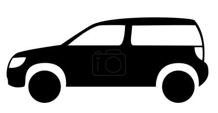 Small cargo car silhouette