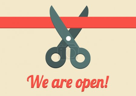We are open illustration