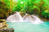 Jungle forest waterfall at Erawan waterfall National Park