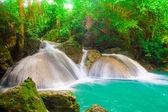Beautiful waterfall (erawan waterfall) in kanchanaburi province