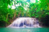 Deep forest waterfall at Erawan National Park