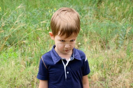 Resentful boy 4-5 years old