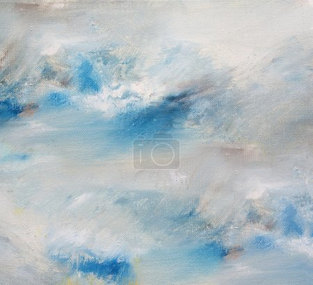 Sky, artistic background oil painting