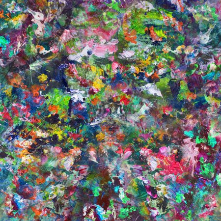 Photo for Flowers, abstract artistic background oil painting - Royalty Free Image