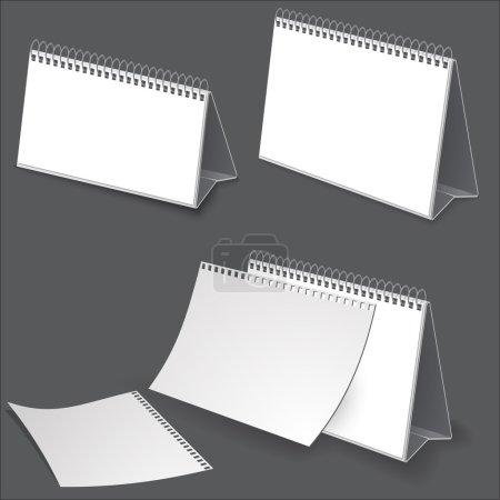 Desk calendar. Illustration on white for design