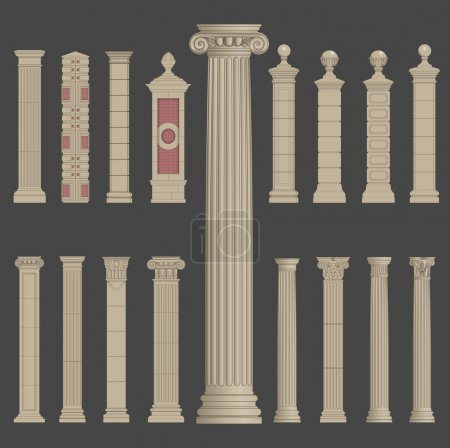 pillar column roman greek architecture