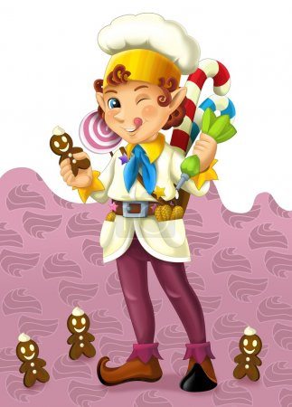 The christmas dwarf - illustration for the children