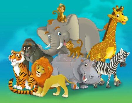 Cartoon safari