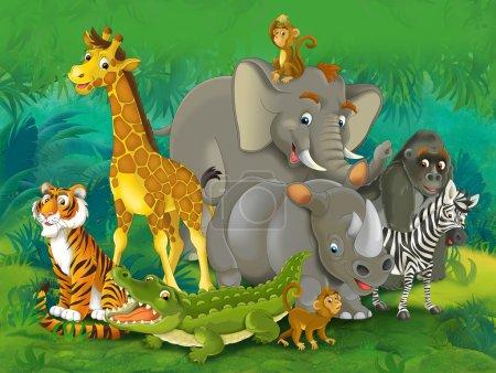 Photo pour Safari dessin animé - illustration pour les enfants - image libre de droit