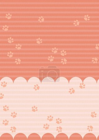 The background - pet foot print - illustration for the children