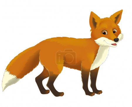Photo pour Caricature animaux fox - illustration pour les enfants - image libre de droit