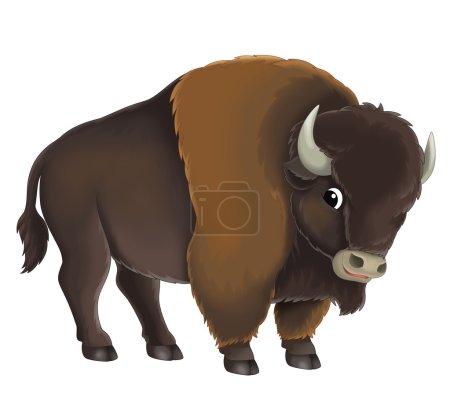 Cartoon buffalo bull